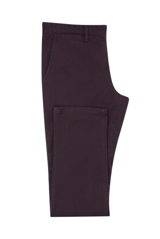 Pánské kalhoty  , barva vínová