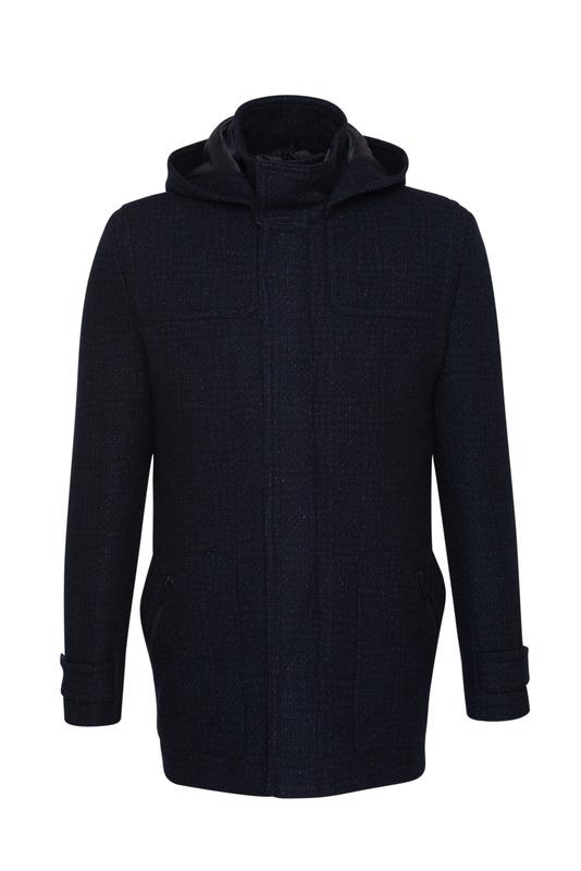 Pánský plášť  , barva černá