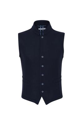 Pánská vesta  , barva modrá