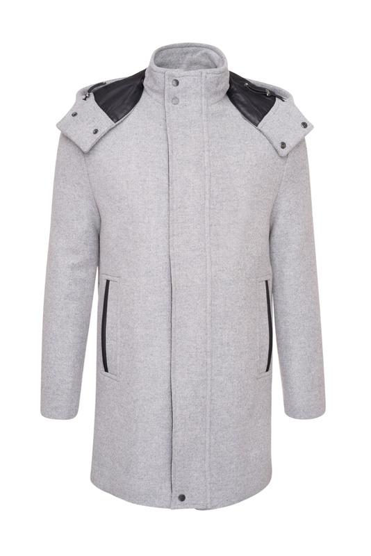 Pánský plášť  , barva šedá