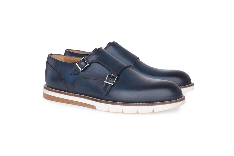 Pánská módní obuv  , barva modrá