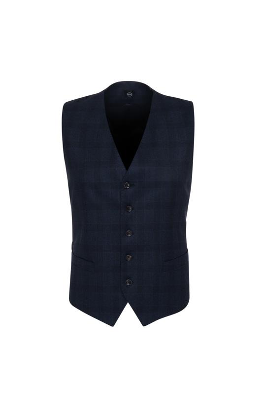 Pánská obleková vesta  , barva modrá