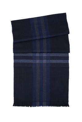 Pánská šála  , barva černá, modrá