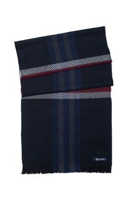 Pánská šála  , barva modrá, červená
