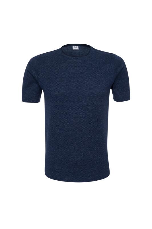 Triko casual extra slim, barva modrá