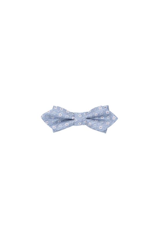 Motýlek formal, barva šedá, modrá