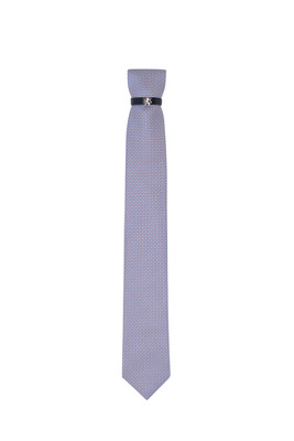 Kravata , barva béžová, modrá