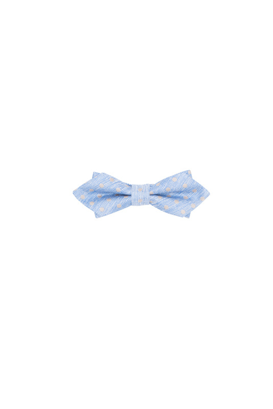 Motýlek formal, barva modrá, béžová