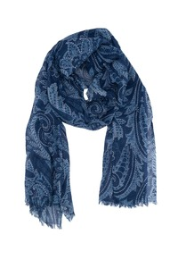 Šála informal, barva modrá