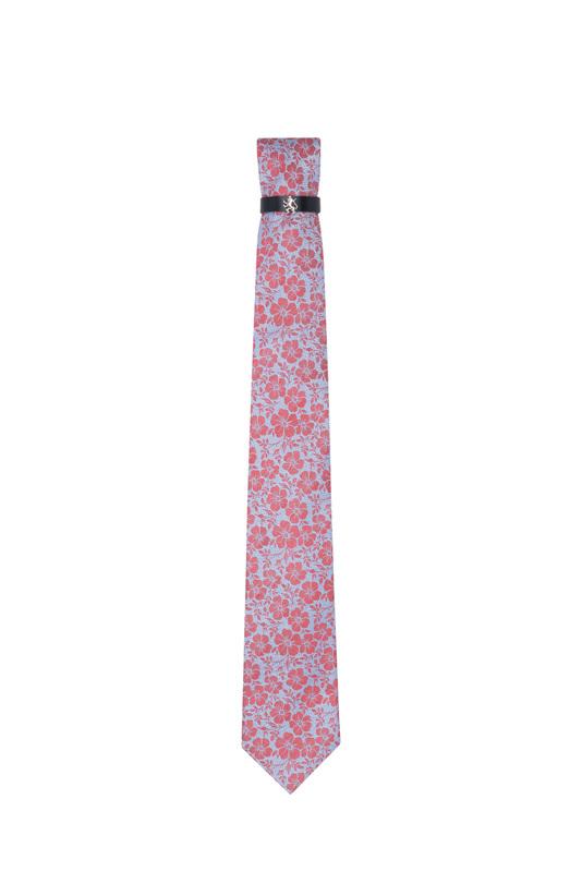 Kravata formal, barva modrá, červená