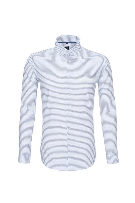 Košile informal extra slim, barva bílá, modrá