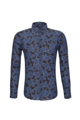 Košile informal slim, barva modrá