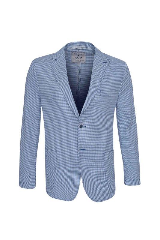 Sako informal extra slim, barva bílá, modrá