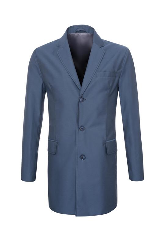 Plášť formal slim, barva modrá