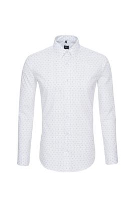 Košile formal extra slim, barva bílá, modrá