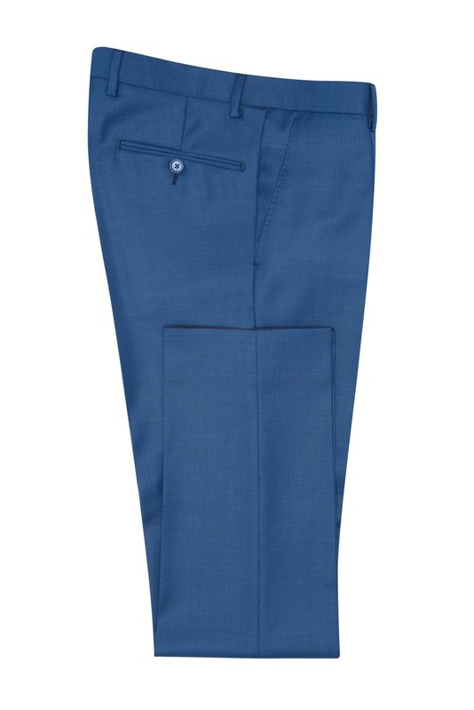 Oblekové kalhoty , barva modrá