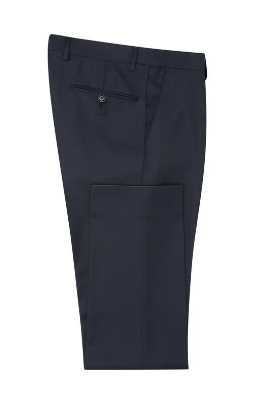 Oblekové kalhoty S jemným vzorem