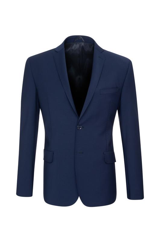 Oblekové sako  slim, barva modrá