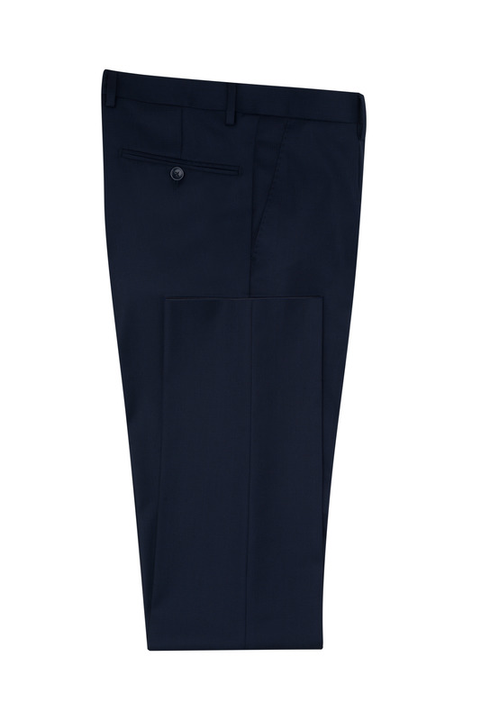 Oblekové kalhoty ceremony slim, barva modrá