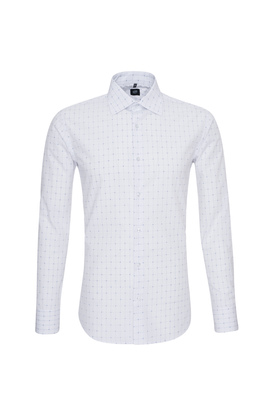 Košile formal slim, barva bílá, modrá