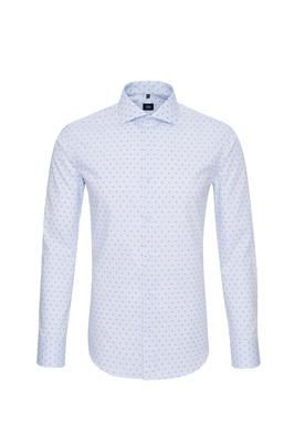 Košile formal extra slim, barva růžová, bílá