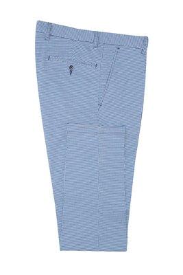 Kalhoty informal extra slim, barva bílá, modrá