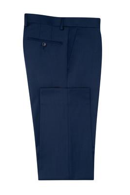 Oblekové kalhoty  slim, barva modrá