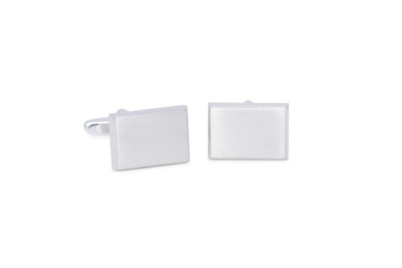 Manžetový knoflíček formal, barva stříbrná