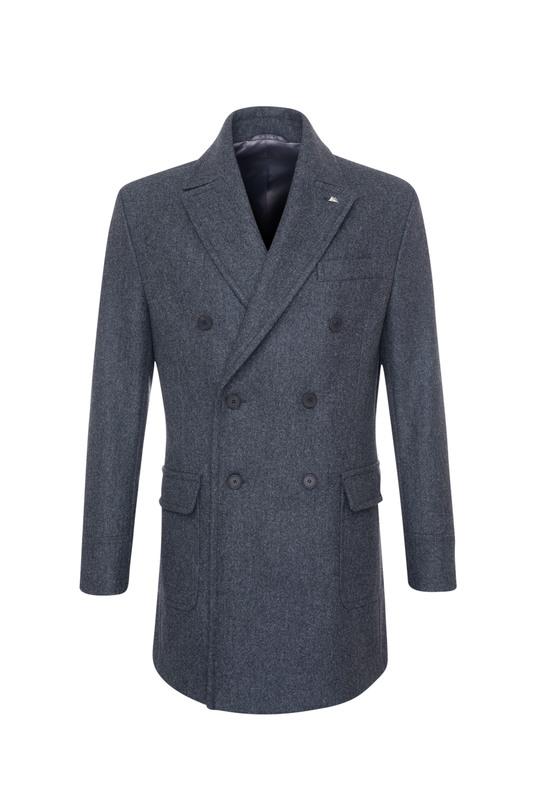 Plášť informal extra slim, barva šedá