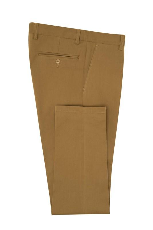 Kalhoty informal extra slim, barva hnědá