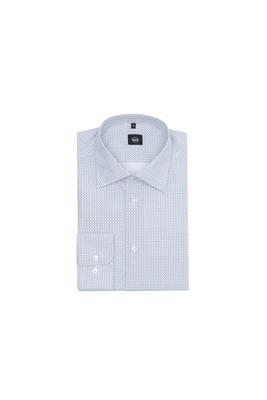 Košile formal slim, barva modrá, bílá