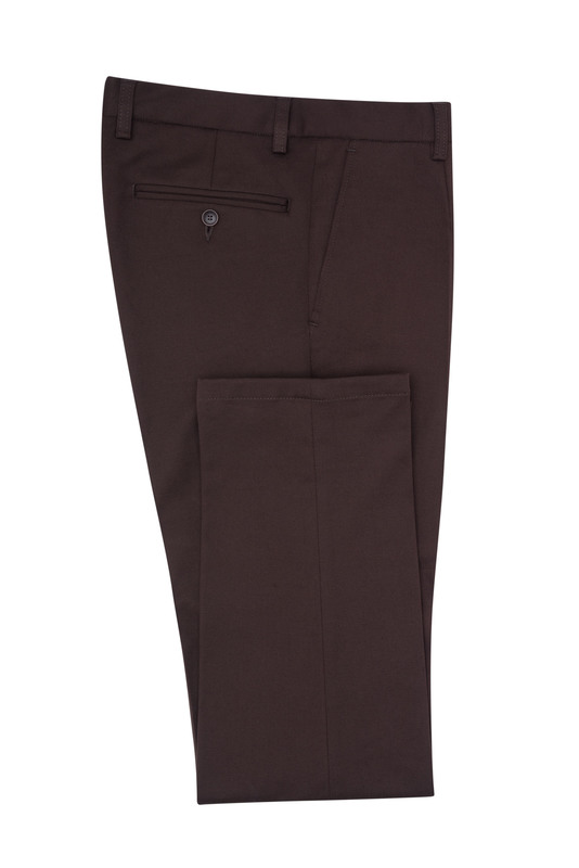 Kalhoty informal slim, barva hnědá