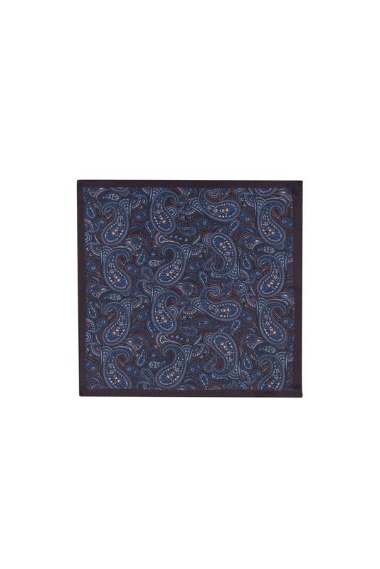 Kapesníček formal, barva hnědá, modrá