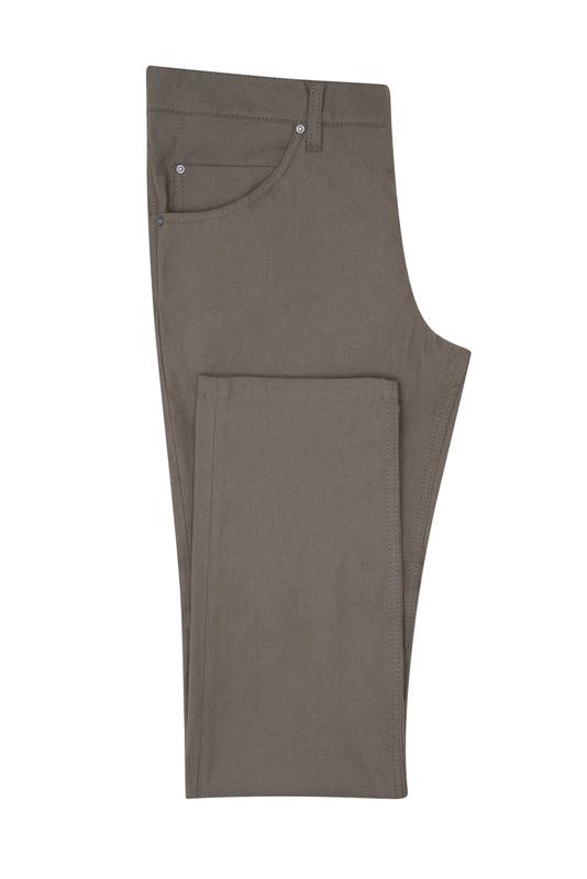 Kalhoty casual slim, barva hnědá