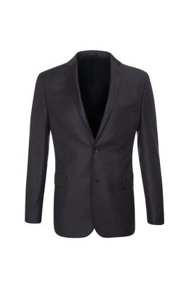 Oblekové sako formal slim, barva hnědá, černá