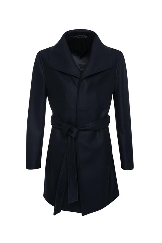 Plášť informal slim, barva černá