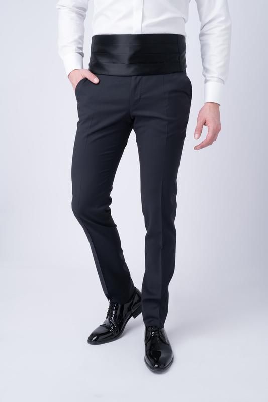 Smokingové kalhoty S jemným vzorem