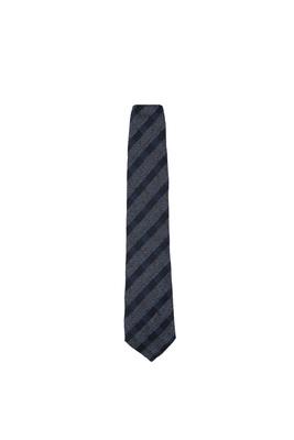 Kravata formal, barva šedá, modrá