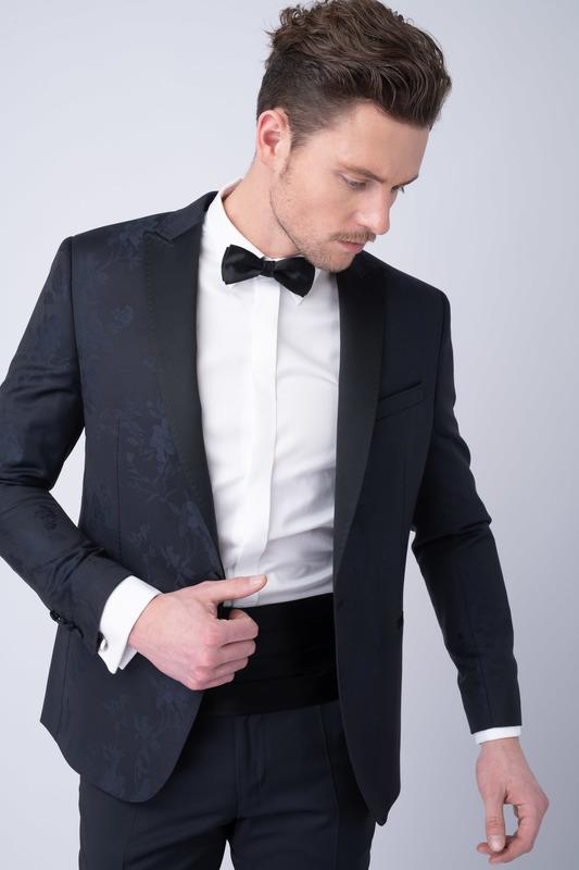 Smokingové sako S jemným vzorem