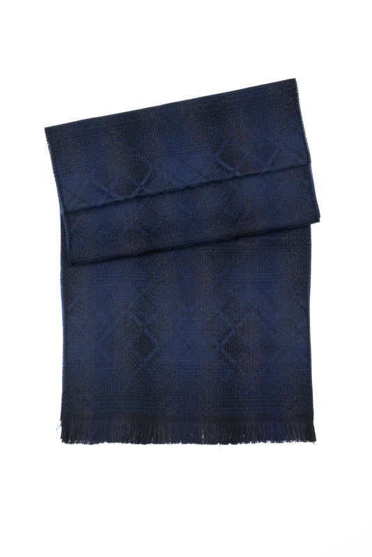 Šála formal, barva černá, modrá