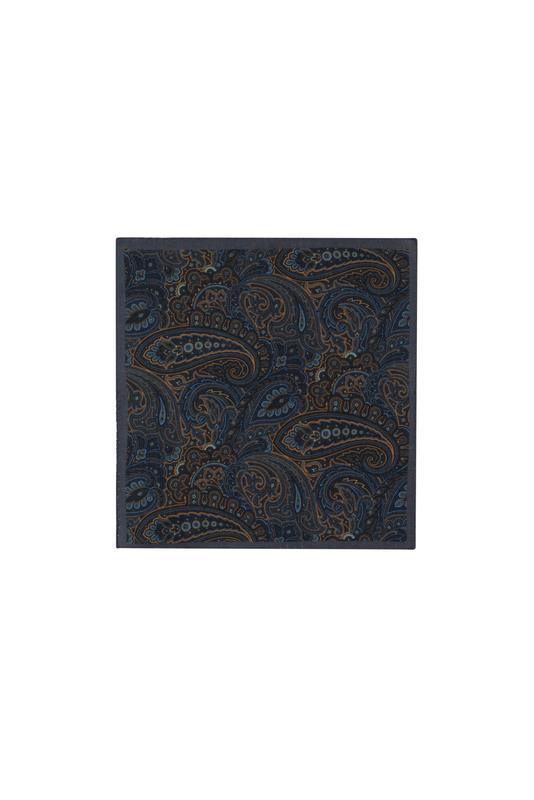 Kapesníček informal, barva hnědá, modrá