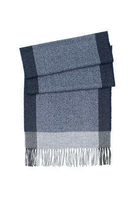 Šála informal, barva šedá, modrá