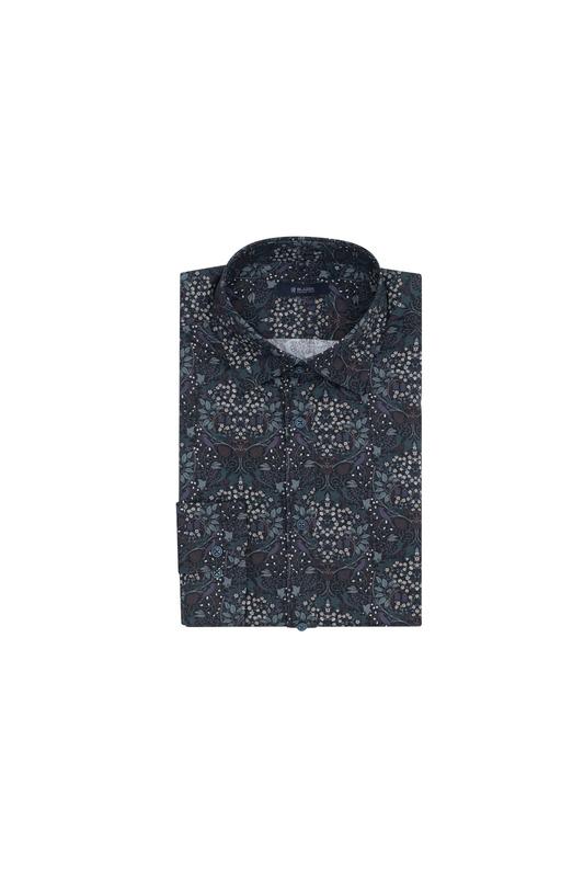 Košile informal, barva fialová