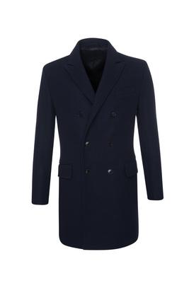 Plášť formal extra slim, barva modrá