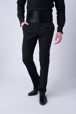 Smokingové kalhoty Temně černé barvy