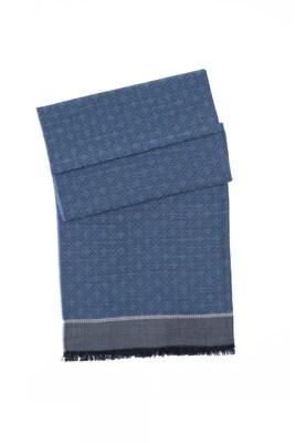 Šála formal, barva šedá, modrá