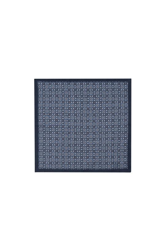 Kapesníček informal, barva šedá, modrá