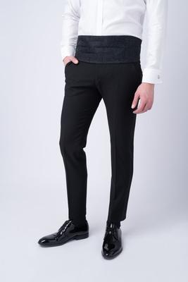 Oblekové kalhoty ceremony extra slim, barva černá