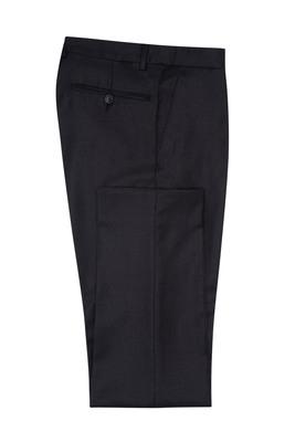 Oblekové kalhoty formal slim, barva hnědá, černá