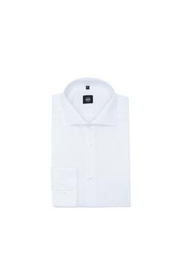 Košile formal extra slim, barva modrá, bílá